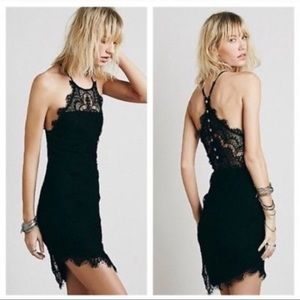 FREE PEOPLE Lace Cocktail Dress